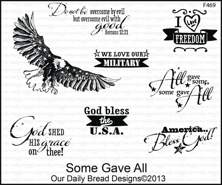 Our Daily Bread Stamp - F469 - SOME GAVE ALL