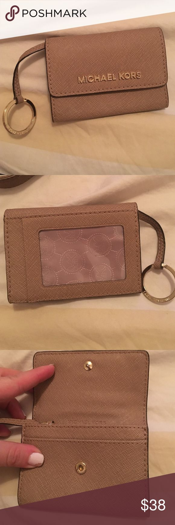 Michael Kors jet set travel coin purse Wristlet Dark khaki and in perfect condition. Hardly used. Perfect for key chain and wallet combo MICHAEL Michael Kors Bags Clutches & Wristlets