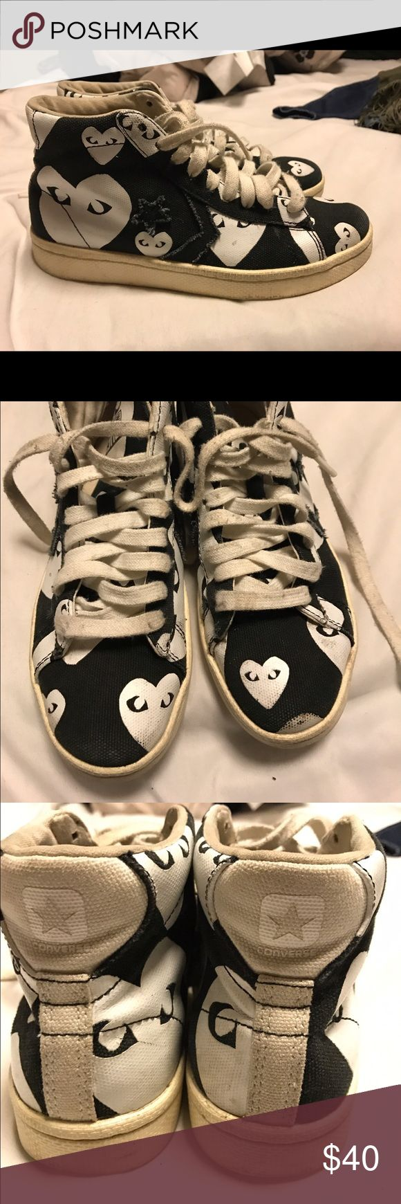 Play Converse Pro Leather High Worn. Price negotiable. Comme des Garcons Shoes Sneakers
