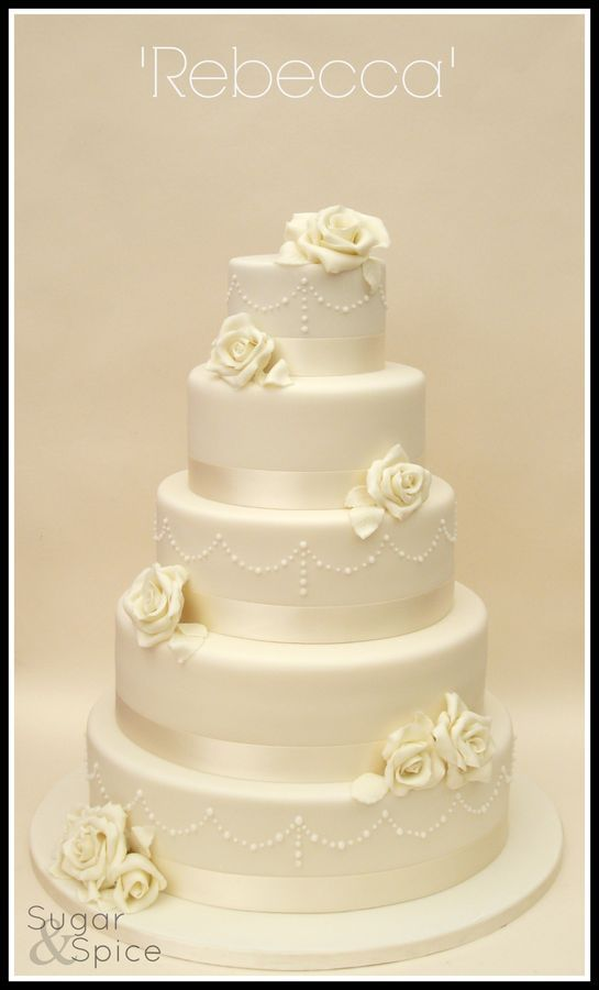White #Wedding Cake ... Wedding ideas for brides, grooms, parents & planners ... https://itunes.apple.com/us/app/the-gold-wedding-planner/id498112599?ls=1=8 … plus how to organise an entire wedding, without overspending ♥ The Gold Wedding Planner iPhone App ♥