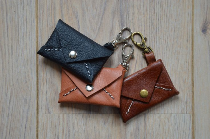 Leather coin pouch with lobster clasp by KaruDesigns on Etsy