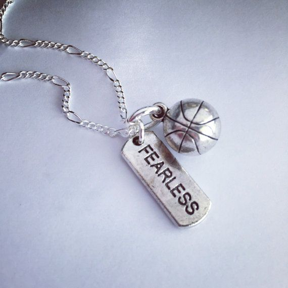 Sporty Girl Basketball Fearless Necklace by SportyGirlBoutique