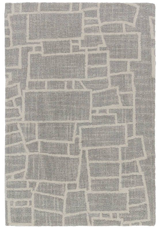 Lloyd Grey Micro Hooked Wool Rug The Outlet For The Home