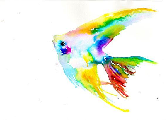 Angelfish+by+Jessica+Buhman+Print+of+Original+by ...