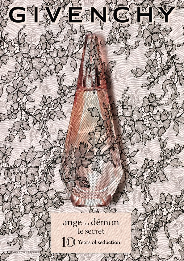 Givenchy Ange Ou Demon Le Secret 10 Years of Seduction! ~ 2016 ~  Italian winter lemon, green tea leaves, cranberry crystal jasmine, white peony, water lily  blond wood, patchouli, musk