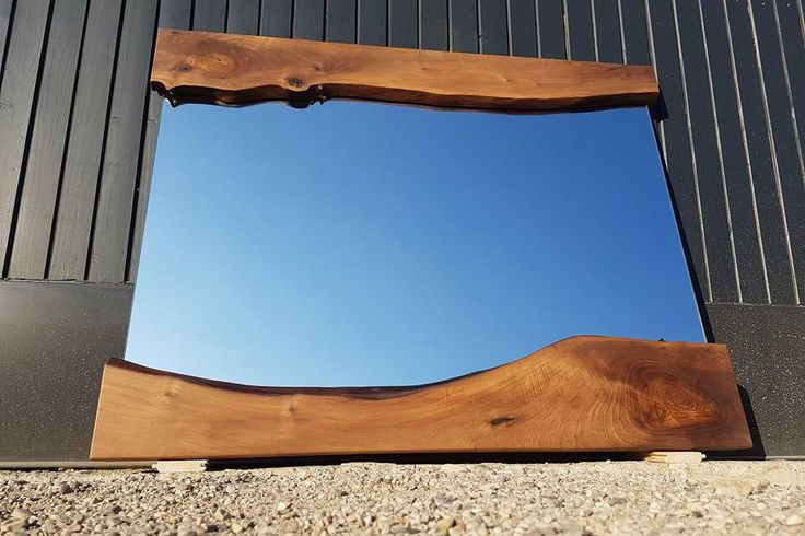 Modern Wall Mirror - Wooden Live Edge Mirror by PANwoodenproducts on Etsy https://www.etsy.com/listing/249715889/modern-wall-mirror-wooden-live-edge