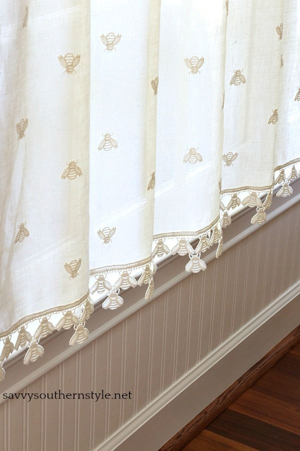 Vintage French Cafe Curtains With Images Country House Decor