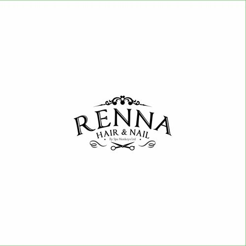 designs design a high end organic zen look for renna hair and nail salon - Nail Salon Logo Design Ideas