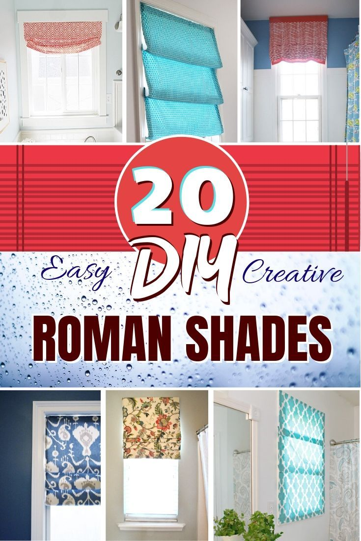 Diy Roman Shades Easy 20 Creative And Easy Diy Roman Shades With Tutorials The Best