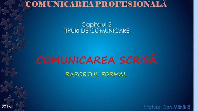 Profu`economist: COMUNICAREA SCRISA (3)