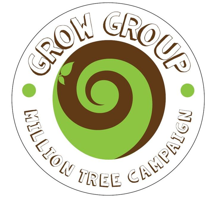The Million tree campaign has a logo #SouthAfrica #helloWorld #trees #seeds #milliontreecampaign #growgroup