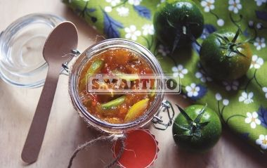MARMELLATA DI POMODORI VERDI  1,1 Kg of green tomatoes, 1 Fruttincasa 2:1 bag + 500 g of sugar or 1 Fruttincasa 3:1 bag + 350 g of sugar. Try the particular taste of green tomatoes in this jam! #jam #greentomato #ilovesanmartino