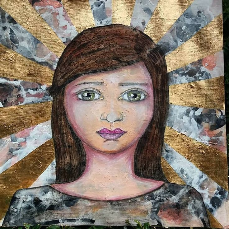 MadeByMaly Mixed media whimsical girl