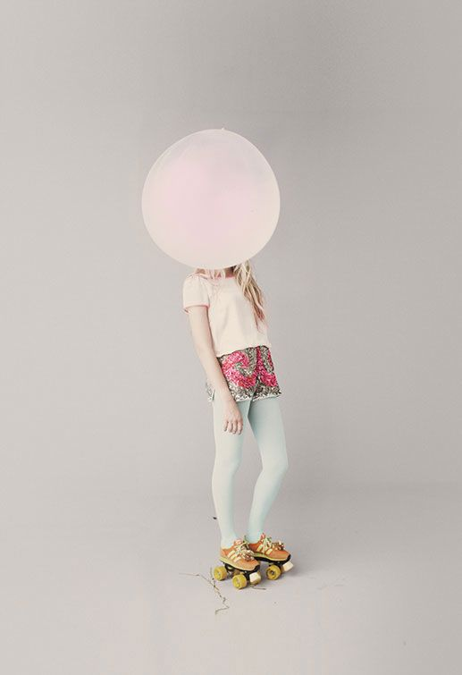 roller skates & big balloons