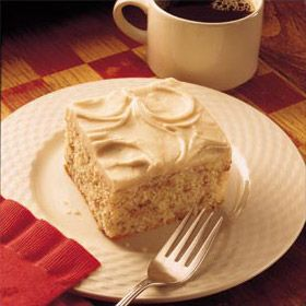 Easy Butter Cake With Browned Butter Frosting from Land O'Lakes