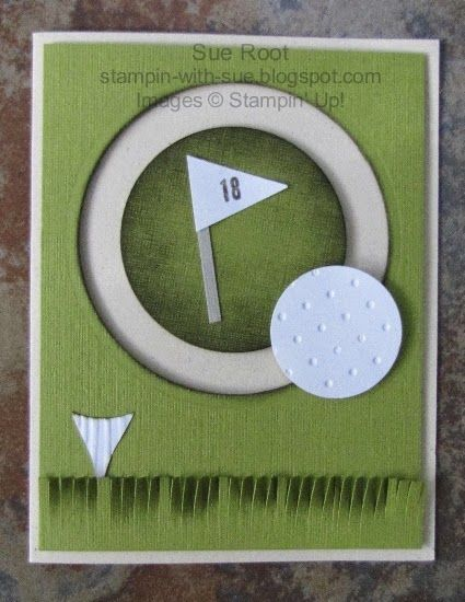 Stampin' With Sue: Golf Spinner Card