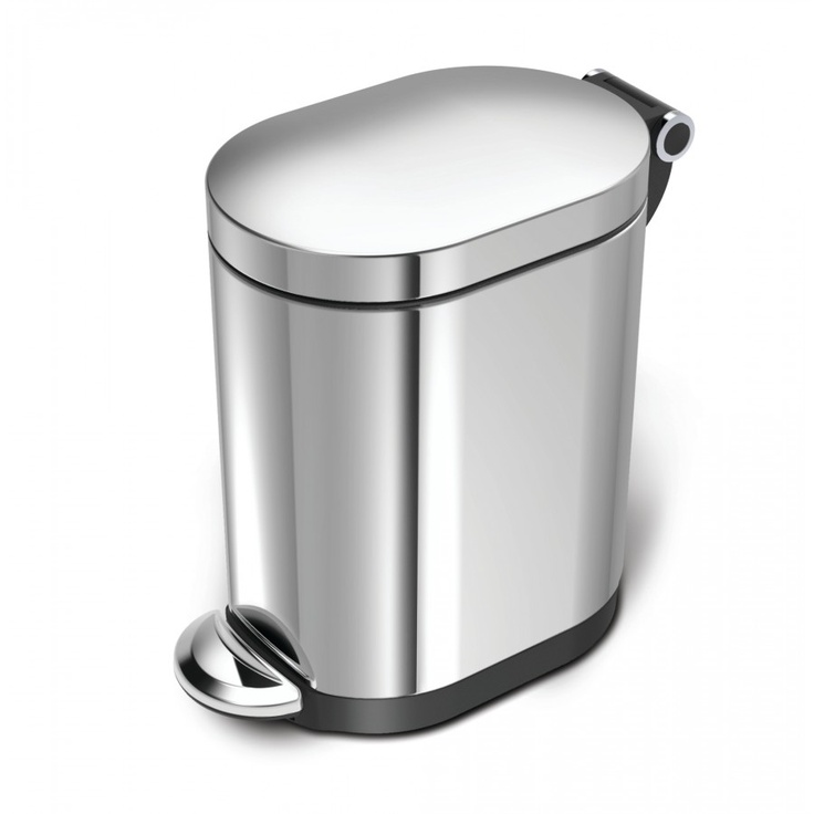 simplehuman Step Can in Polished Stainless Steel - BT1058 ...