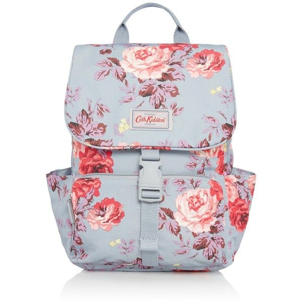 Cath Kidston Antique Rose Buckle Backpack (255 ILS) ❤ liked on Polyvore featuring bags, backpacks, bags & luggage handbags, buckle backpacks, cath kidston bags, cath kidston, rucksack bags and day pack backpack