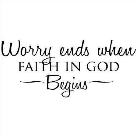 A preocupação termina, quando a fé em Deus começa