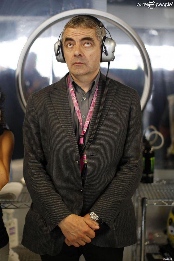 Rowan Atkinson dans les travées du Grand Prix d'Italie à Monza, le 8 septembre 2013