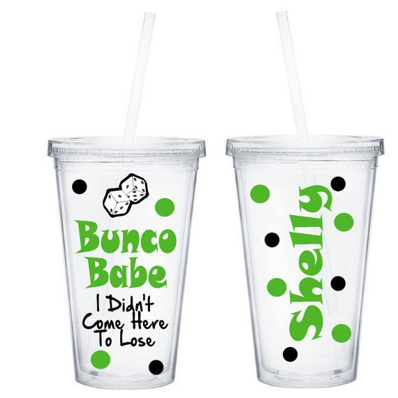 Personalized Bunco Babe Tumbler, Bunco Prize or Gift, Dice Queen on Etsy, $15.00
