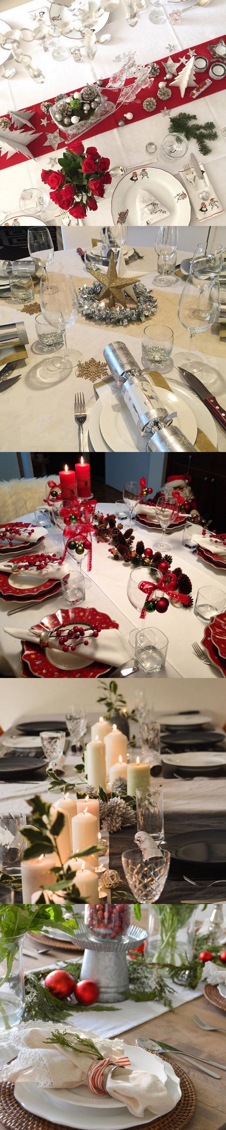 78 images about christmas table decorations on pinterest tablescapes natale and centerpieces - Superb modern christmas decor ideas ...