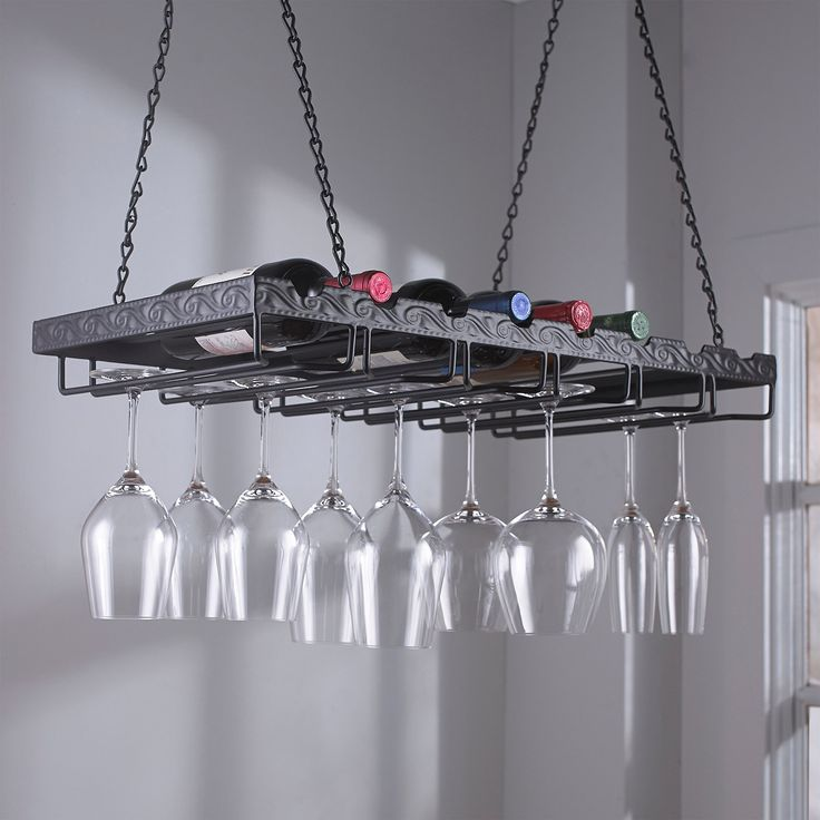 hanging wine glass rack - Google Search