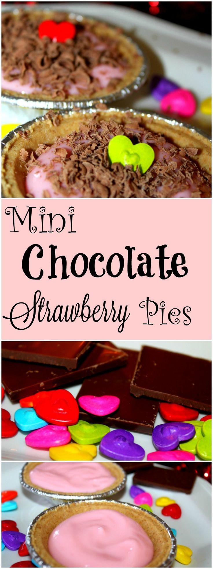 Mini Chocolate Strawberry Pie