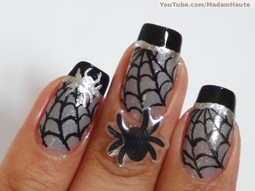 90 best halloween nail art images on pinterest halloween nail happy halloween nail art prinsesfo Choice Image