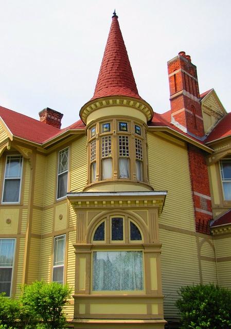 Turret on a lumberjack mansion in Bay City, MI.