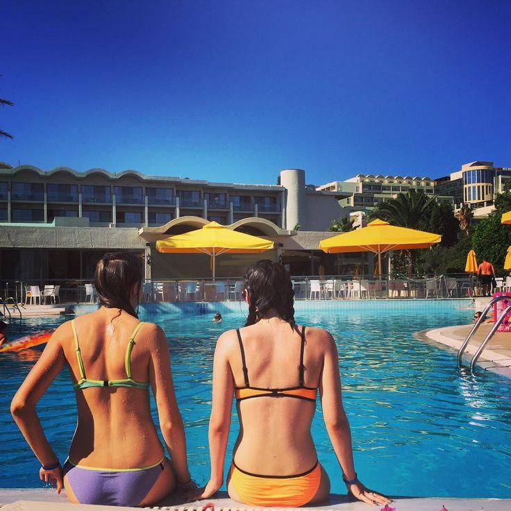 Time by the pool...At Kipriotis Hippocrates Hotel  in Greece!! #greekisland #kosisland #greece #summer #fun #pool #girls #kipriotishotels