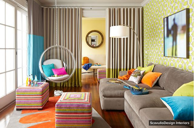 Room of the Day by Houzz - Playing up color in a California Lounge - What do you like about this room?