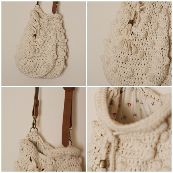 Patron de bolso boho en crochet * Free crochet boho bag pattern