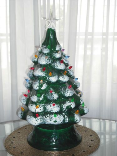 "20"" Vintage Montgomery Wards Ceramic Christmas Lighted Tree Not Atlantic 1970s"