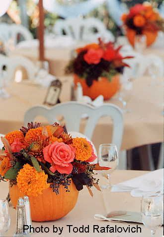 Yes, I believe I'll have a fall wedding.... Love these pumpkins!!!