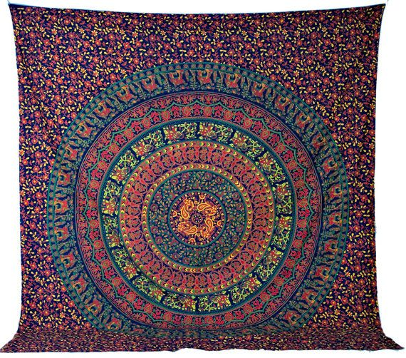 Mandala Tapestry Tapestries, Indian Tapestry, Hippie Tapestry, Indian Wall Hanging, Indian Bedspread, Bohemian Tapestry, Mandala Dorm Decor