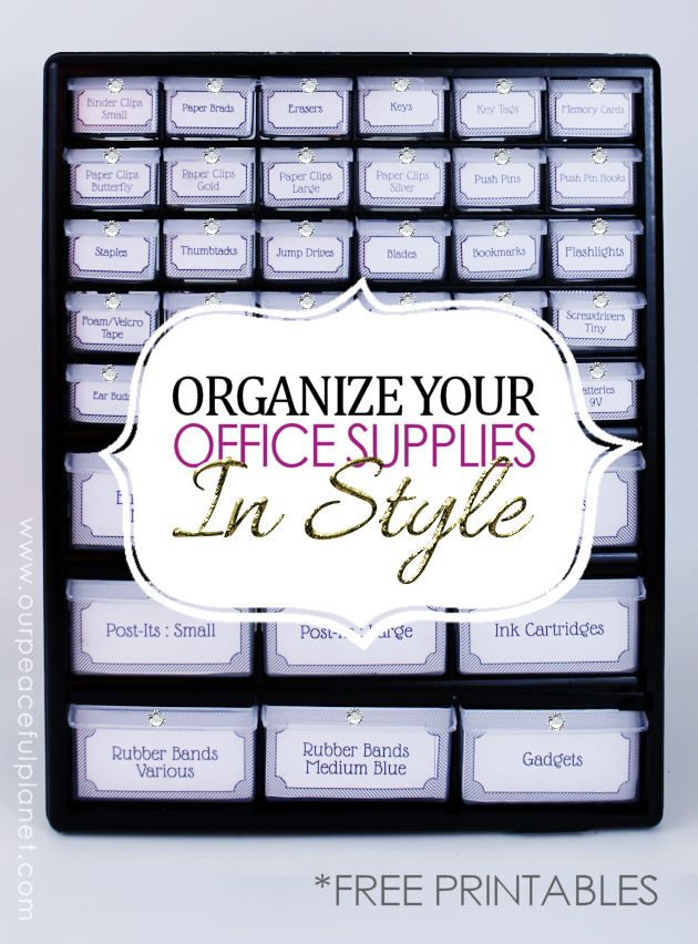 Organize Office Supplies In Style With A Parts Chest ·