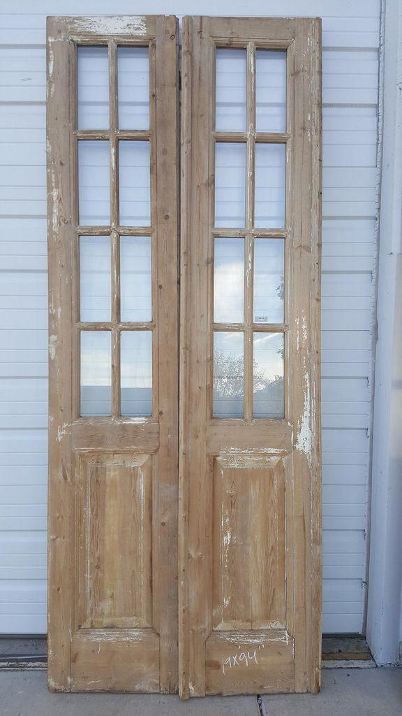 8 Panel Wood And Glass French Door Pantry Doorsforsaleinterior Glass French Doors Antique French Doors Wood French Doors