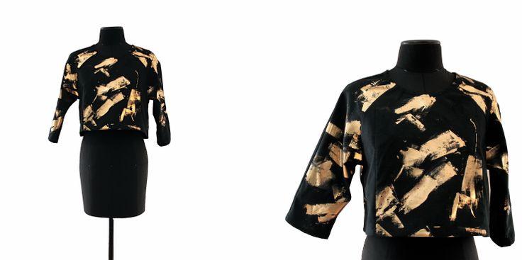 Black ang gold / Crop top
