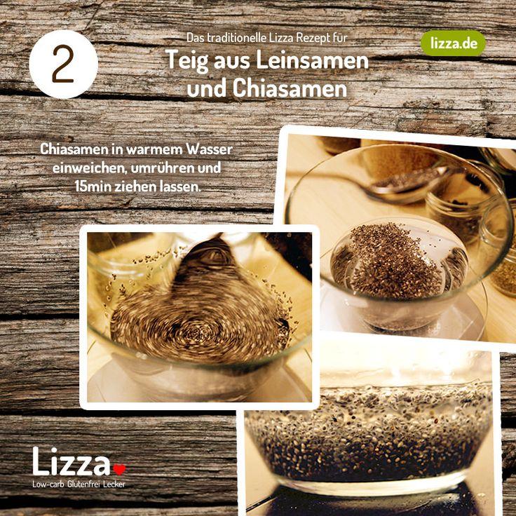Low-carb Pizza Teig aus Chia- und Leinsamen Schritt 2