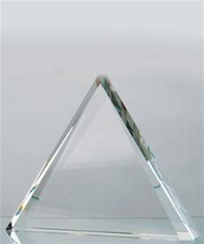 Triangular Trophy Plaques &Awards Engrave on Optical Crystal