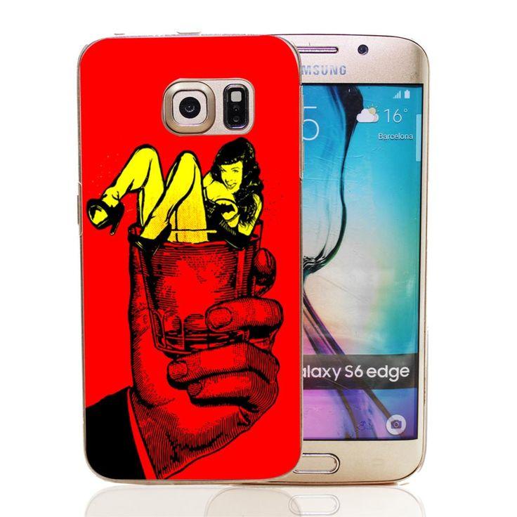 Су кровавый бетти пейдж ( на рокеры ) стиль прозрачный твердый переплет для Samsung Galaxy S3 S3 за мини-s4 мини-кейс S5 S5 мини S6 край