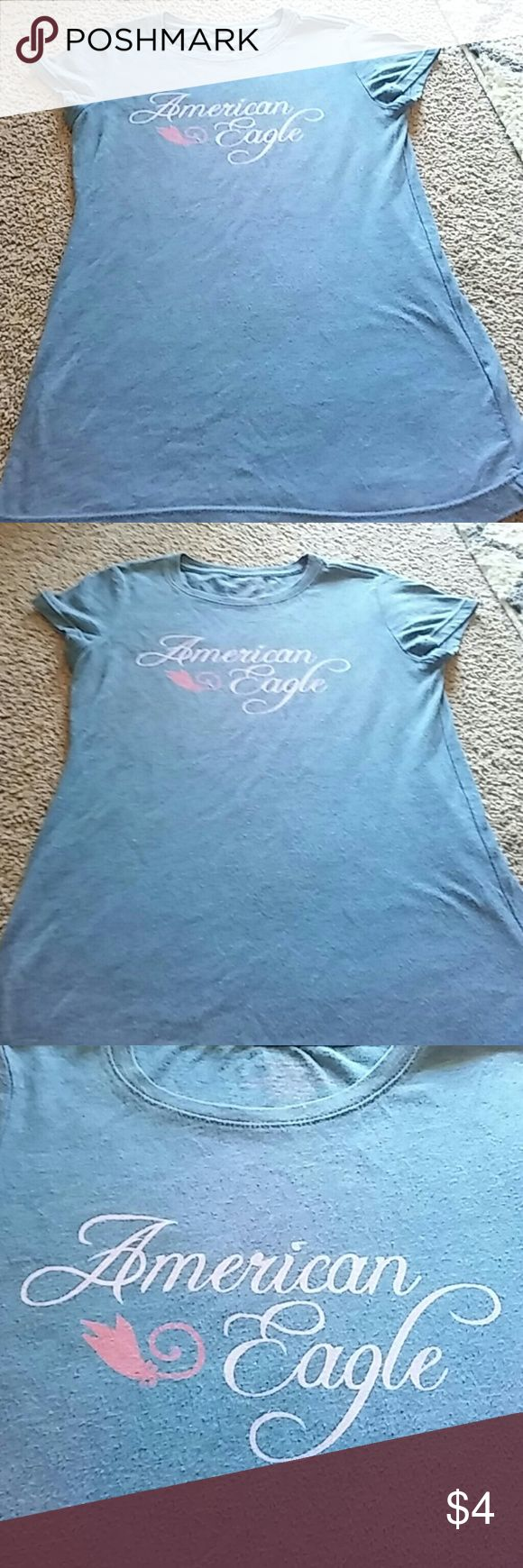 American eagle womens tshirt in used condition Price reflects wear American Eagle Outfitters Tops Tees - Short Sleeve