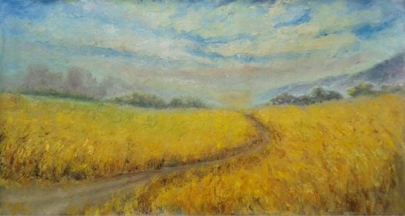 FINEARTSEEN - INFINITE SUMMER by Emilia Milcheva. A beautiful original landscape painting in oil. Available on FineArtSeen - The Home Of Original Art. Enjoy Free Delivery with every order. << Pin For Later >>