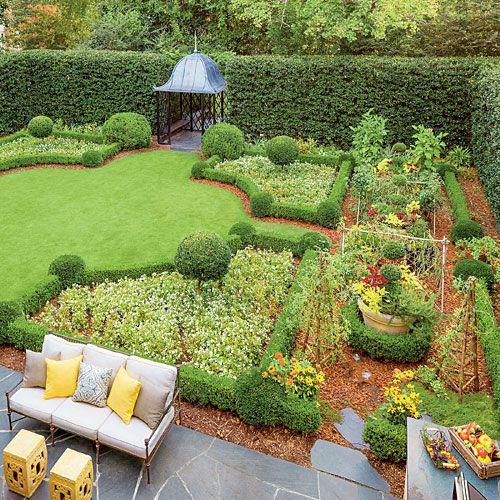 Suburban Backyard Garden : Suburban Kitchen Garden  Southern Living