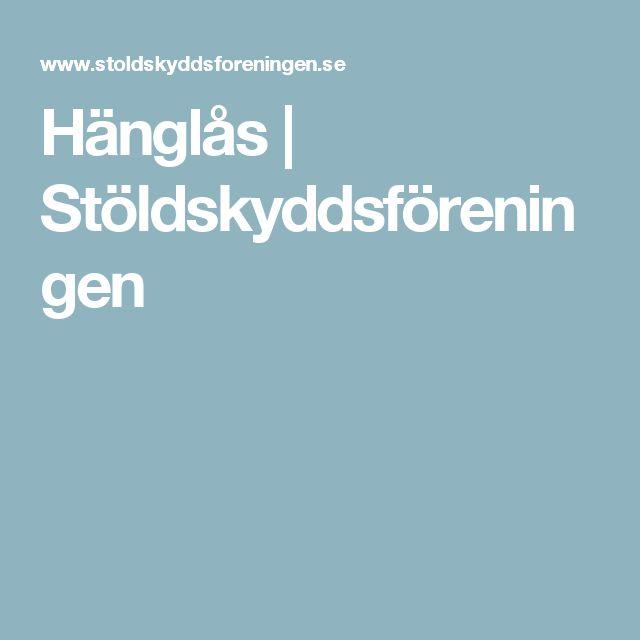 Hänglås | Stöldskyddsföreningen