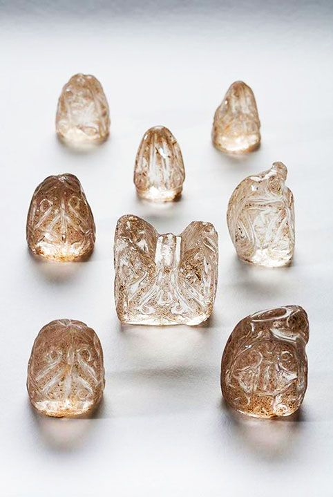 A series of 11th-century crystal Chess Pieces from the Museo da Catedral in Ourense, Spain, which have never before left the cathedral.