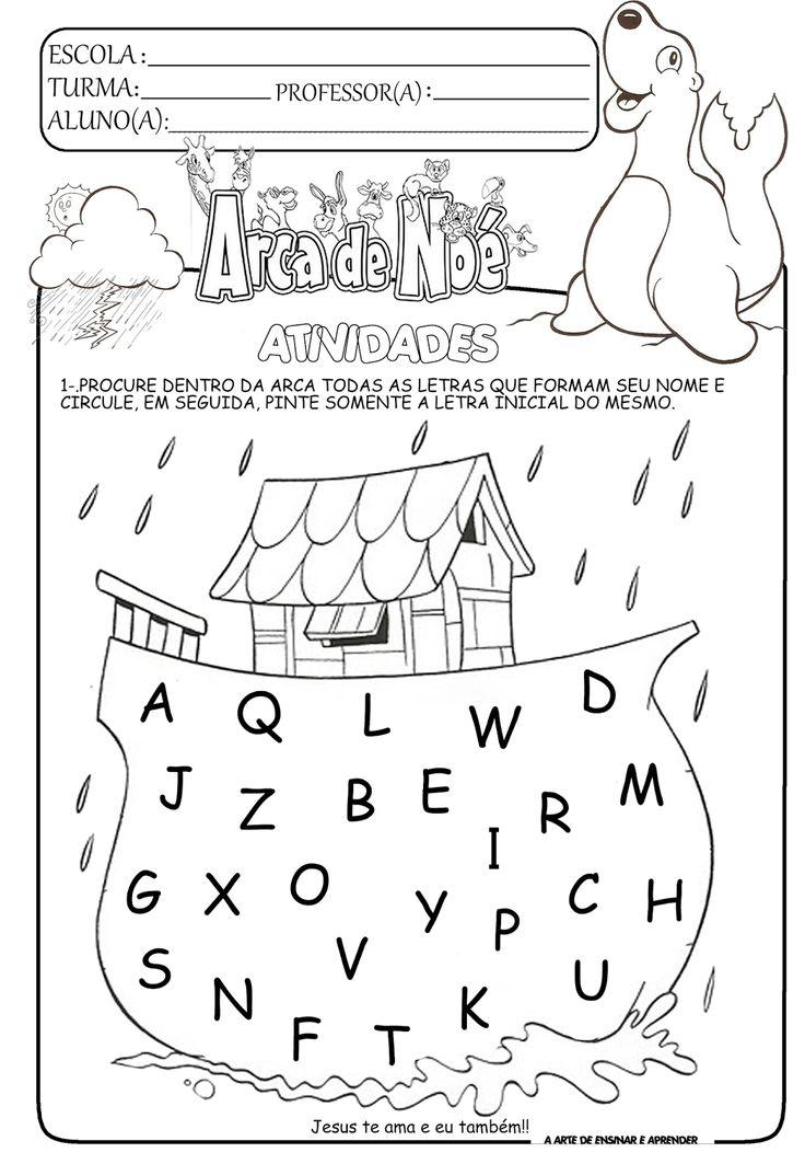 Atividades temáticas - Arca de Noé (Projeto Vinícius de Moraes)