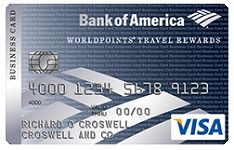 How to Redeem Bank of America WorldPoints Travel Rewards  Good morning everyone.  I recently signed up for a Bank of America WorldPoints Travel Rewards Business Credit Card (thanks to Bank of America's $1,000 business checking account offer) and was curious how best to redeem my WorldPoints.  I believe WorldPoints earned from a personal credit card and a business credit card can be redeemed for the same things at the same value and probably combined into 1 WorldPoints