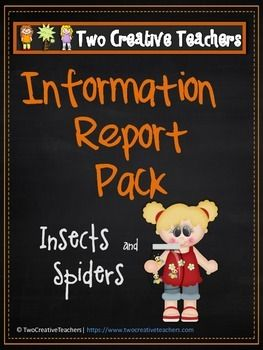 et ALL 5 Information Report Packs for just $7 - a saving of $3!!  Included in this resource: * Information Reports on the Butterfly, Bee, Ladybug and Spider. This pack includes a variety of responses for students to complete (students to complete using information report)
